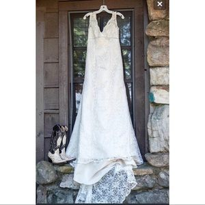 Ivory and Champagne Wedding Dress